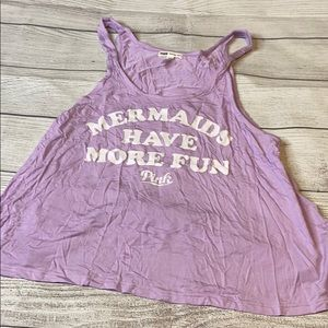 NWOT lilac mermaid have more fun PINK tank